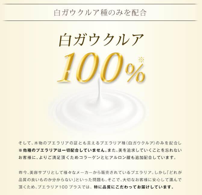 白ガウクルア100%使用
